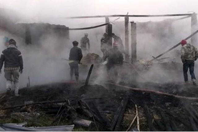 लमहीमा आगलागी छ वटा घर जलेर नष्ट