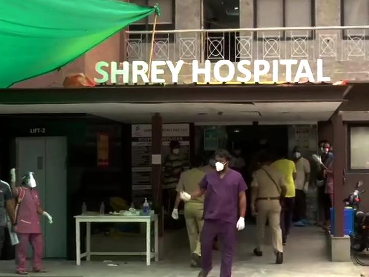 कोभिड अस्पतालमा आगलागी, ८ कोरोना संक्रमितको मृत्यु