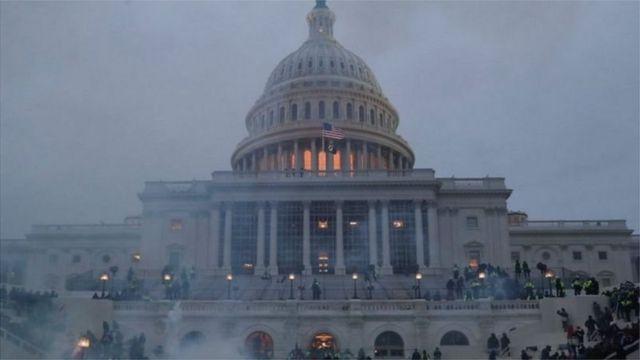 अमेरिकी संसदमा घाइते एक प्रहरीको मृत्यु