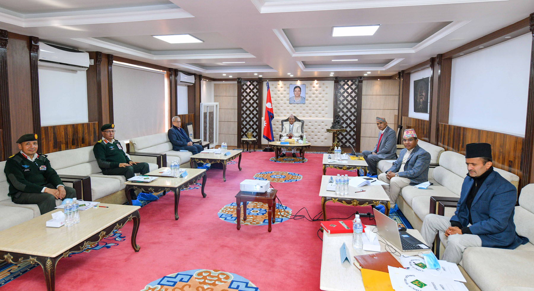 सुुरक्षा परिषद् बैठकमा निर्वाचन सुरक्षा विषयमा छलफल