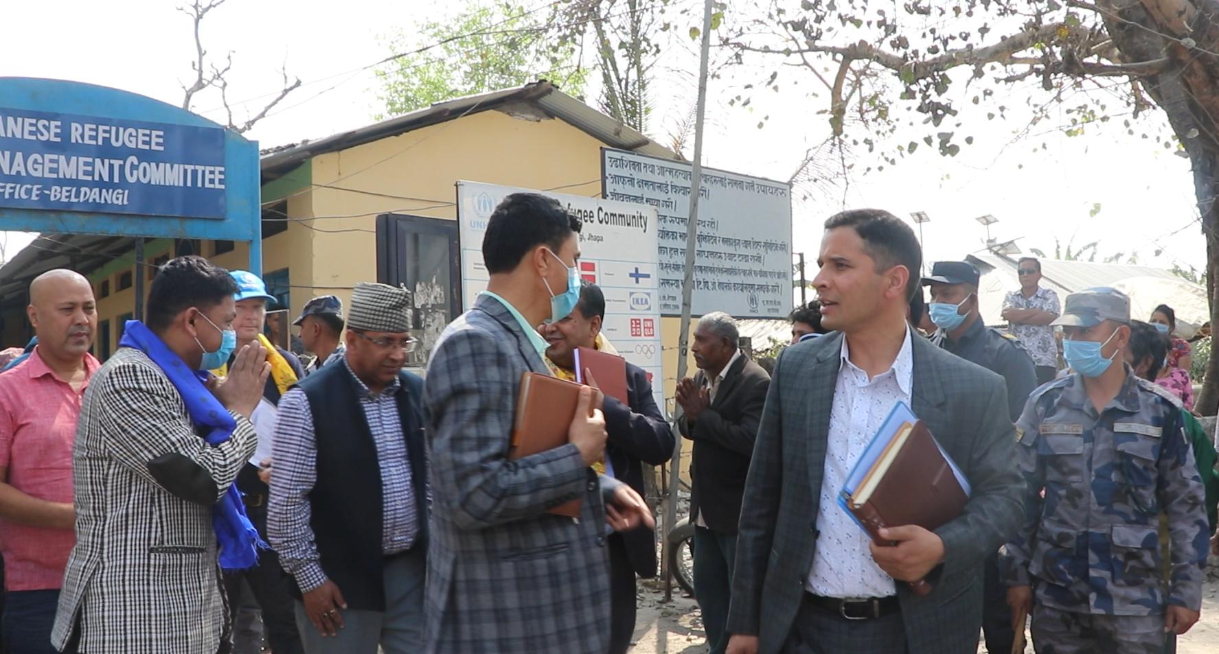 भूटानी शरणार्थीहरुका लागि गृह मन्त्रालय र यु एन एच सी आरले काम गर्ने