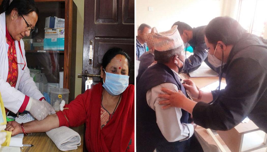 काठमाडौं र ललितपुरमा केएमसीको निःशुल्क स्वास्थ्य शिविर
