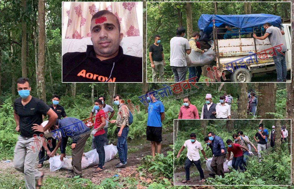 कानेपोखरी जंगलमा शव फेला, आफन्तको शंका हत्या भएकाे